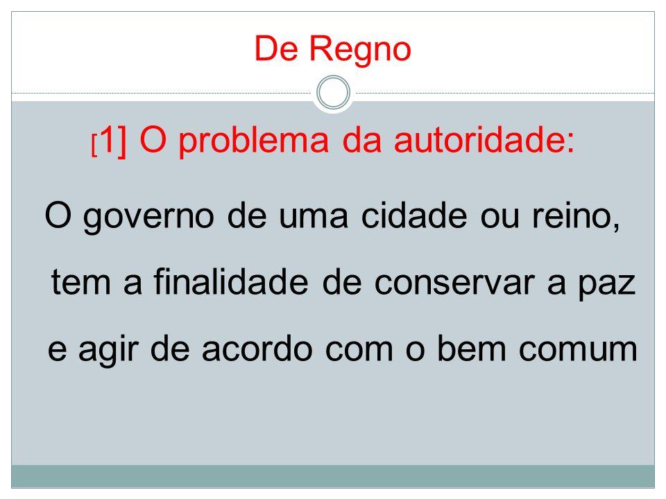 [1] O problema da autoridade: